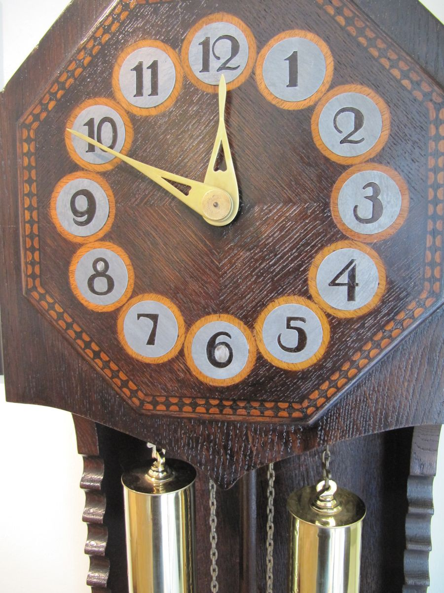 Long case clock by Bruno Paul