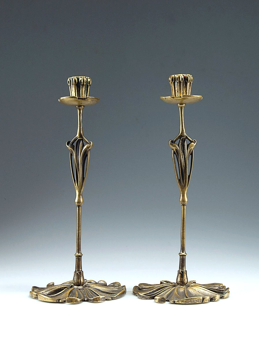 Pair of candlesticks De Feure